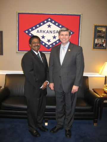 Ambassador with Rep. Ross