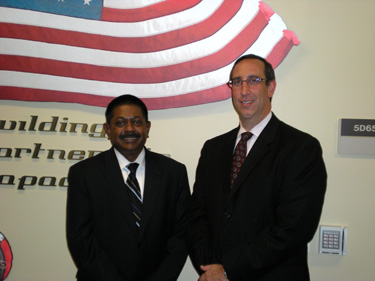 Ambassador Wickramasuriya with Secretary Scher