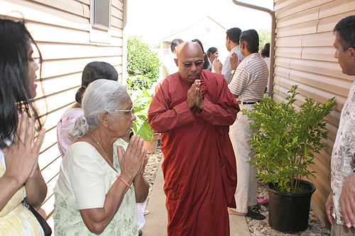 Bhante Nanda leading the pooja