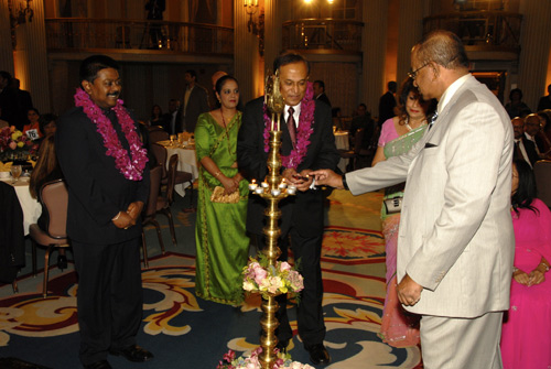 Ceremonial lighting of the oil lamp